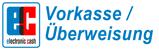 Vorkasse/ Überweisung Logo