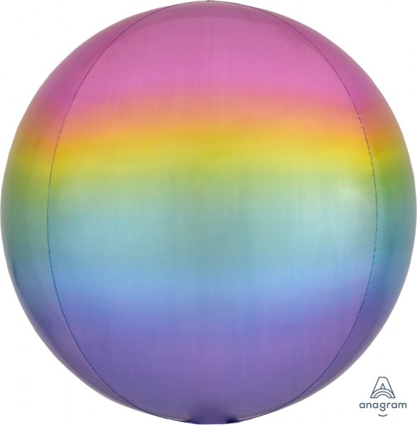 "Anagram Folienballon Orbz Ombré Pastell 40cm/16"""