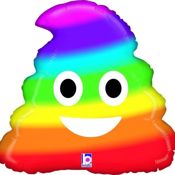"Betallic Folienballon 51cm/20"" Emoji Rainbow Poo"
