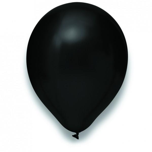 Globos Luftballons 100er Packung 30cm Durchmesser Metallic Schwarz Naturlatex