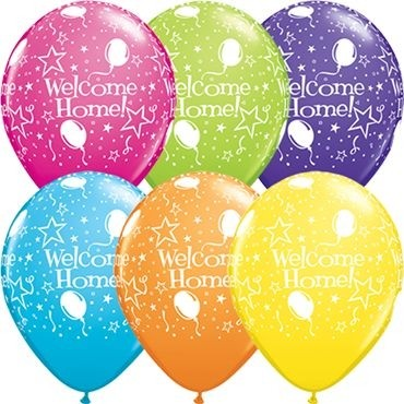 "Qualatex Latexballon Welcome Home! Stars-A-Round Tropical Sortiment 28cm/11"" 25 Stück"