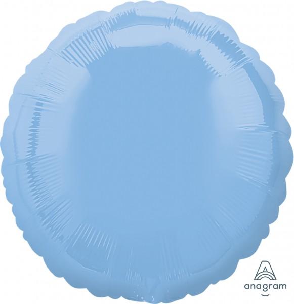 "Anagram Folienballon Rund Pastel Blue 45cm/18"""