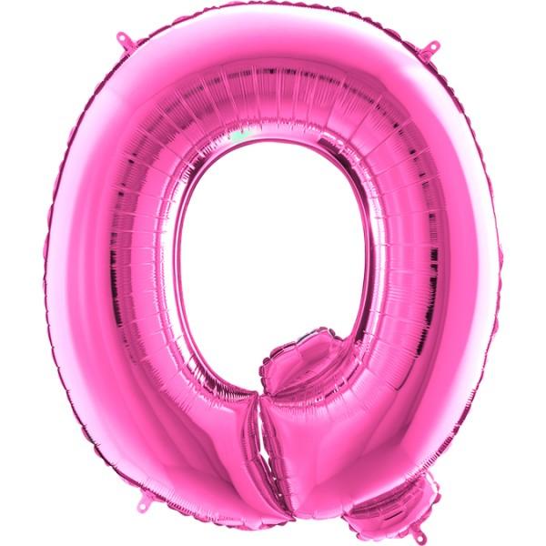 "Grabo Folienballon Buchstabe Q Fuxia 100cm/40"""