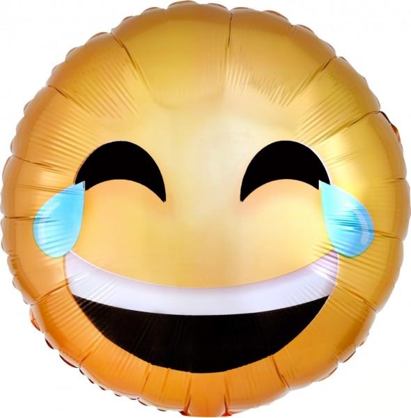 "Anagram Folienballon Laughing Emoticon 23cm/9"""