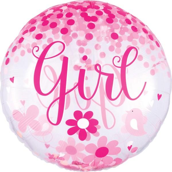 "Anagram Folienballon ""Baby Girl"" 70cm/27"""