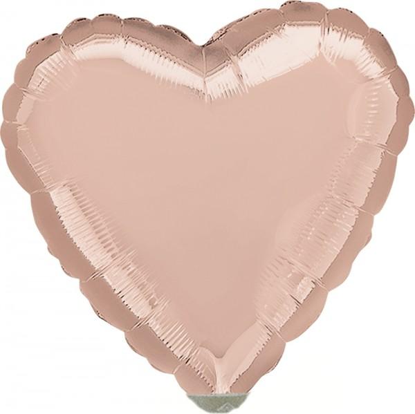 """Anagram Folienballon Rose Gold Heart 23cm/9"""""""