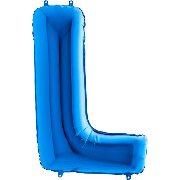 "Grabo Folienballon Buchstabe L Blue 100cm/40"""