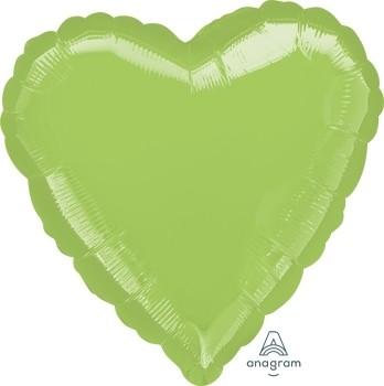 Anagram Folienballon Herz 45cm Durchmesser Metallic Limongrün (Metallic Lime Green)