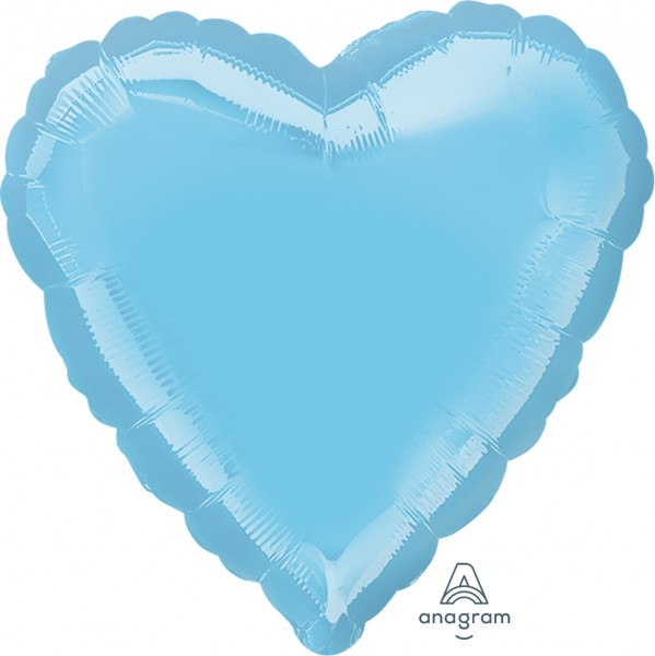 "Anagram Folienballon Herz Iridescent Pearl Lite Blue 45cm/18"""