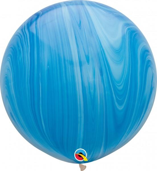 "Qualatex Latexballon Blue Rainbow SuperAgate 75cm/30"" 2 Stück"