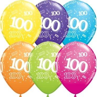 "Qualatex Latexballon 100-A-Round Tropical Assortment 28cm/11"" 25 Stück"