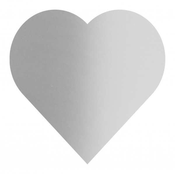 Goodtimes Folienkonfetti 3cm Herz 15g Satin Silber