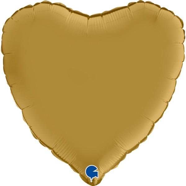 "Grabo Folienballon Heart Satin Gold 45cm/18"""