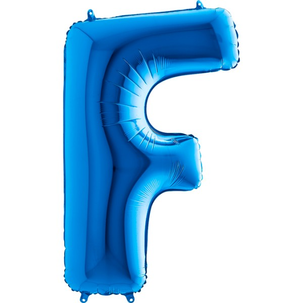"Grabo Folienballon Buchstabe F Blue 100cm/40"""
