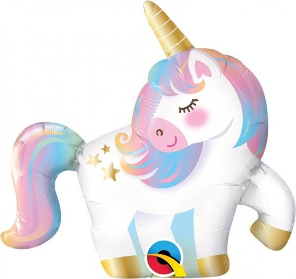 "Qualatex Folienballon Mini Unicorn 36cm/14"""