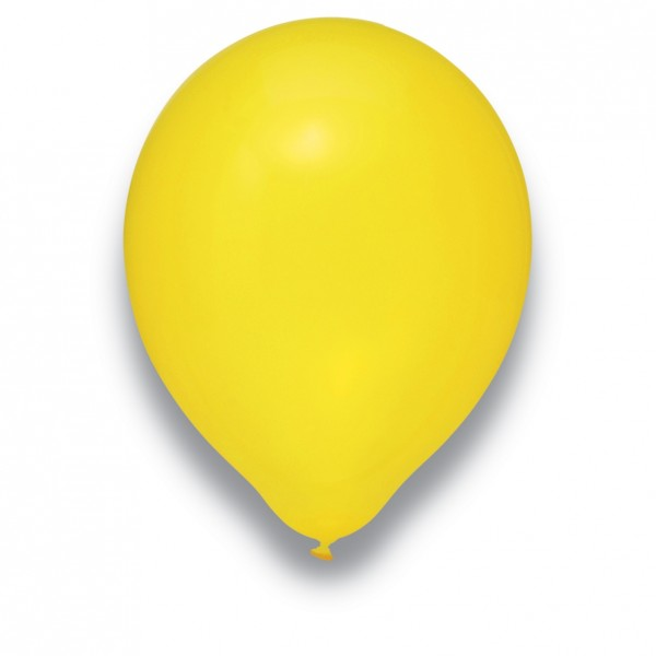 Globos Luftballons 100er Packung 30cm Durchmesser Kristall Gelb Naturlatex