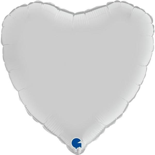 "Grabo Folienballon Heart Satin White 46cm/18"""