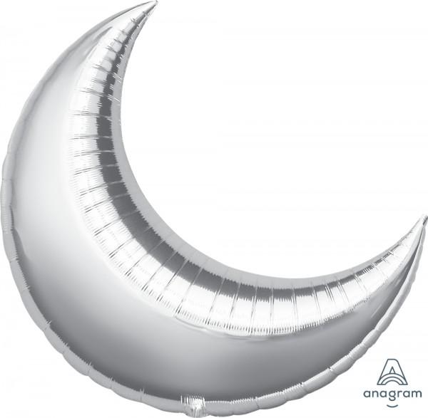"Anagram Folienballon Mond Silber (Crescent Silver) 35"""
