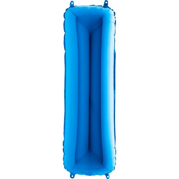 """Grabo Folienballon Buchstabe I Blue 100cm/40"""""""