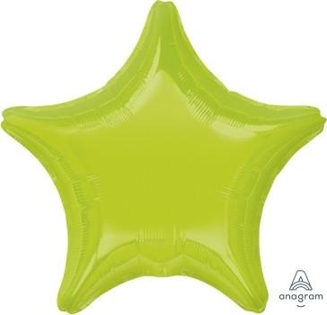 "Anagram Folienballon Stern Hellgrün (Kiwi Green) 20"""