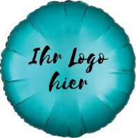 """Folien-Werbeballon Rund Satin Luxe Jade 45cm/18"""" 1-Seitig bedruckt"""