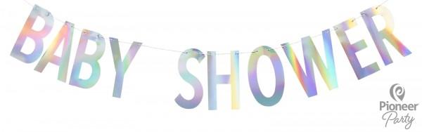 """Pioneer Banner """"Baby Shower"""" irisierend, 200cm"""