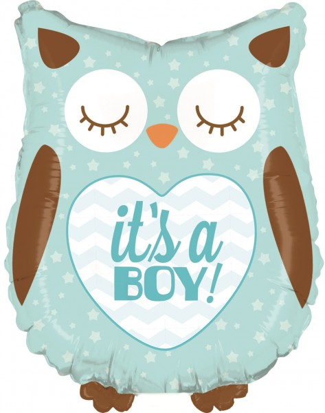 Betallic Folienballon Baby Boy Owl Mini 35cm/14""