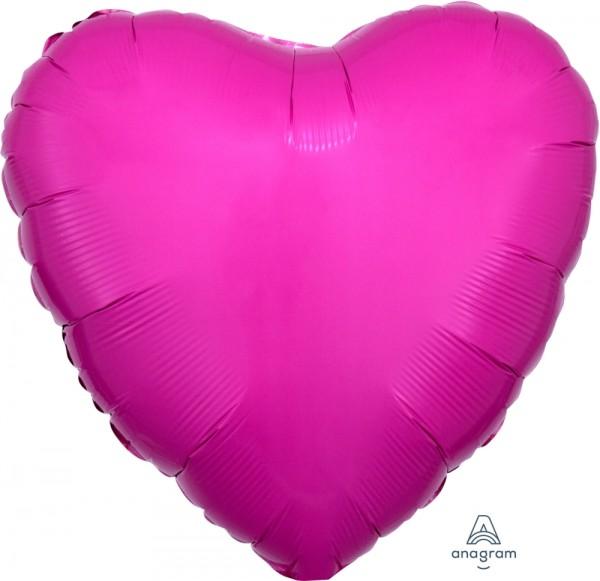 "Anagram Folienballon Herz Bubble Gum Bright Pink 45cm/18"""