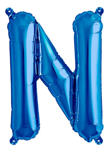 "Northstar Folienballon Buchstabe N Blue 40cm/16"""