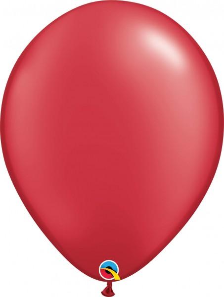 "Qualatex Latexballon Radiant Pearl Ruby Red 40cm/16"" 50 Stück"