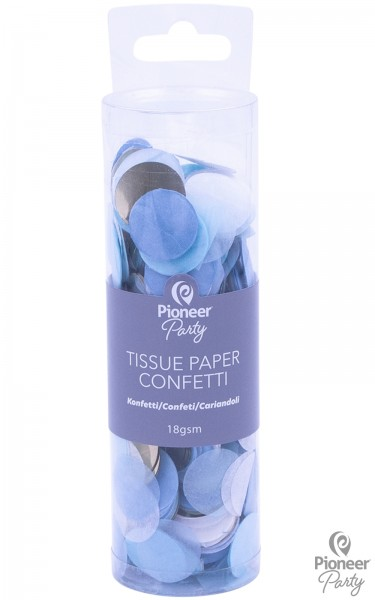 Pioneer Papier Konfetti Blue, White, Gold 18g