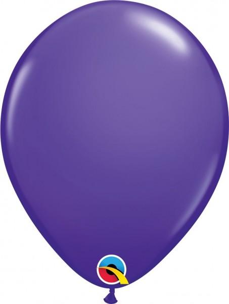 "Qualatex Latexballon Purple Violet 28cm/11"" 6 Stück"