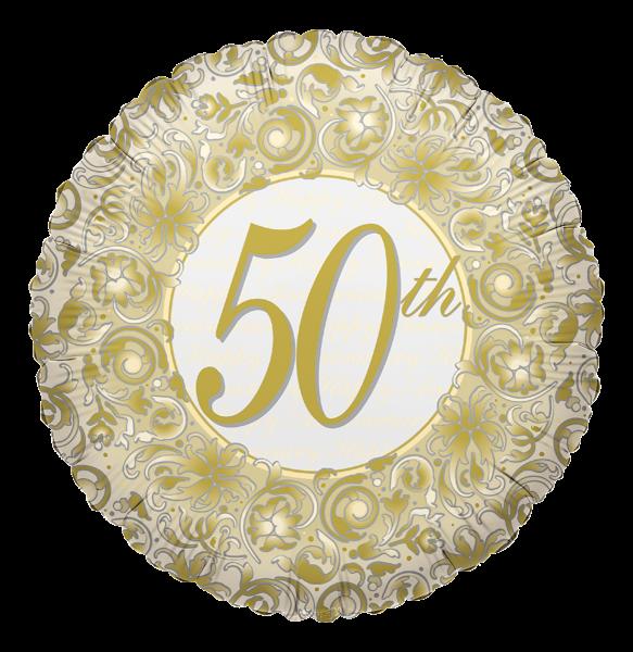 """Kaleidoscope Folienballon """"50. Jubiläum"""", 18"""""""