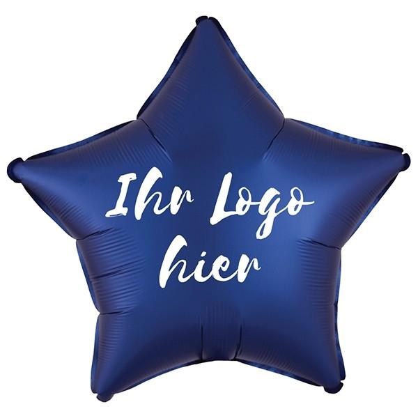 "Folien-Werbeballon Stern Satin Luxe Navy 50cm/20"" 1-Seitig bedruckt"