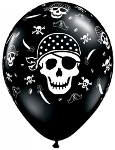 "Qualatex Latexballon Pirate Skull 28cm/11"" 25 Stück"