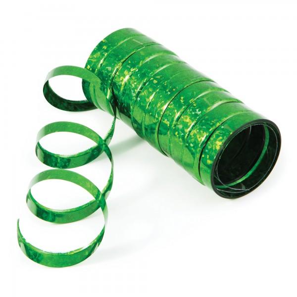Creative Holo-Folienluftschlangen Grün 10er Röllchen