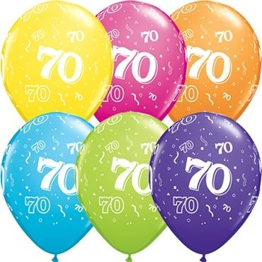 "Qualatex Latexballon 70-A-Round Tropical Assortment 28cm/11"" 25 Stück"