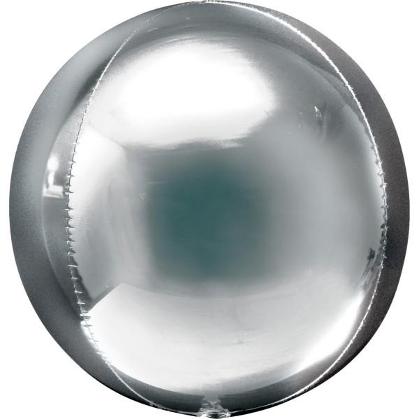 "Anagram Folienballon Orbz Silver 40cm/16"""