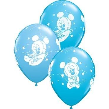 """Qualatex Latexballon Baby Mickey Stars 28cm/11"""" 25 Stück"""