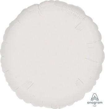 "Anagram Folienballon Rund Metallic Weiß (Metallic White) 18"""