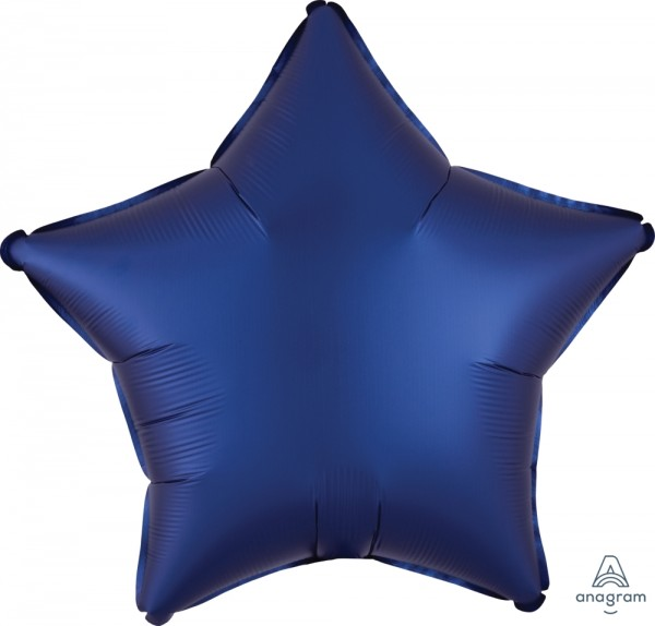Anagram Folienballon Stern Satin Luxe Navy 50cm/20""