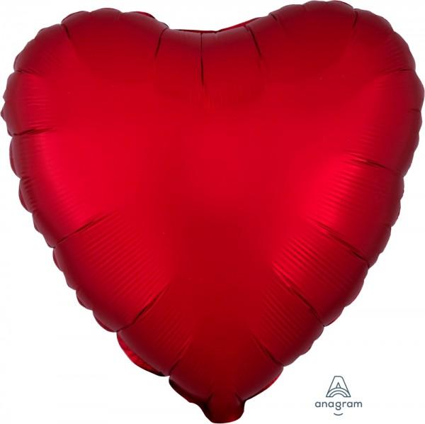 """Anagram Folienballon Herz Satin Luxe Sangria 45cm/18"""""""