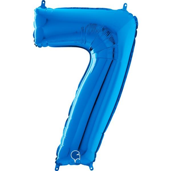 "Grabo Folienballon Zahl 7 Blue 66cm/26"""