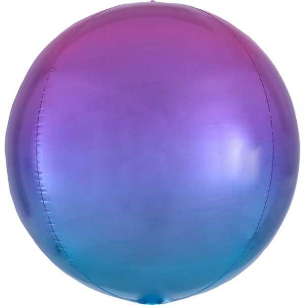 "Anagram Folienballon Orbz Ombré Red & Blue 40cm/16"""