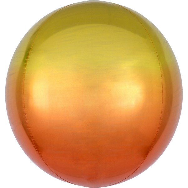 "Anagram Folienballon Orbz Ombré Yellow & Orange 40cm/16"""
