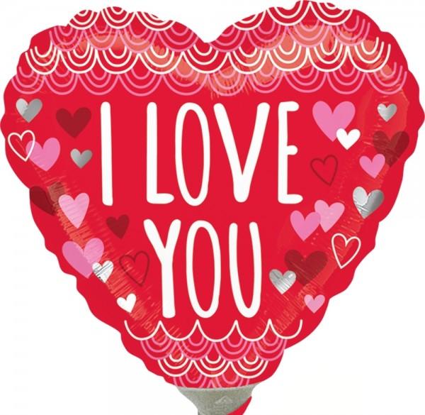 "Anagram Folienballon ""I Love You Sketchy Scallops"" 23cm/9"""