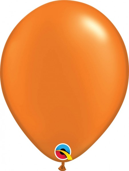 "Qualatex Latexballon Radiant Pearl Mandarin Orange 28cm/11"" 100 Stück"