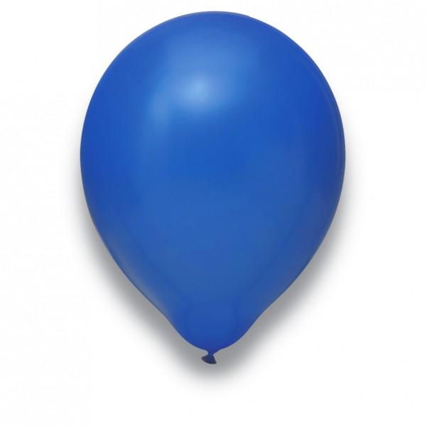 Globos Luftballons 100er Packung 30cm Durchmesser Royalblau Naturlatex