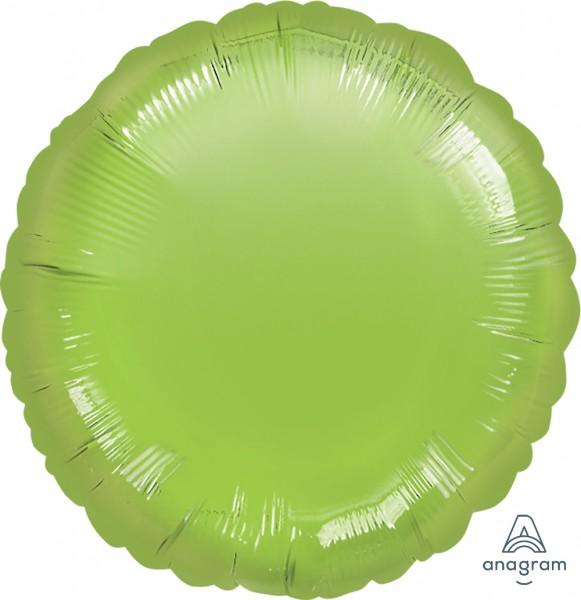 Anagram Folienballon Rund Metallic Lime Green 45cm/18""