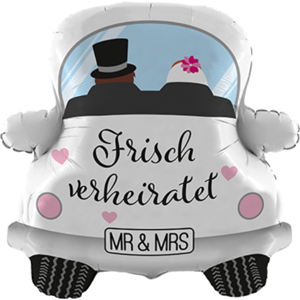 "Betallic Folienballon Hochzeitsauto Frisch verheiratet 79cm/31"""